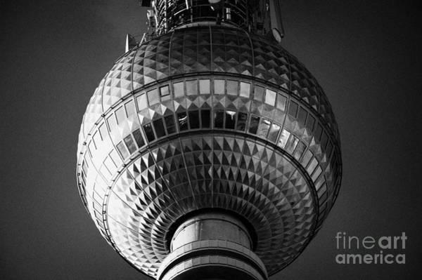 Fernsehturm Photograph - ball of the berliner fernsehturm Berlin TV tower symbol of east berlin Germany by Joe Fox