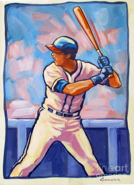 Hitter Painting - Batter Up by Eric Hansen