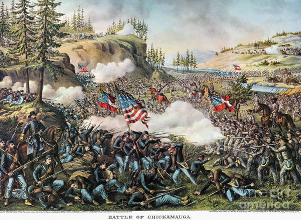 Allison Photograph - Battle Of Chickamauga 1863 by Granger
