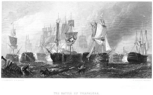 Drown Photograph - Battle Of Trafalgar, 1805 by Granger