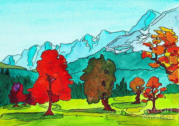 Bavarian Alps Painting - Bavarian Alps by Michaela Bautz