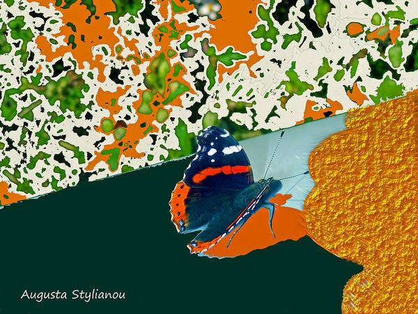 Digital Art - Beautiful Butterfly On Gold by Augusta Stylianou
