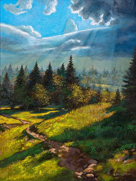 Follow Me Painting - Beauty Of Nature.  by Vladimir Misyts