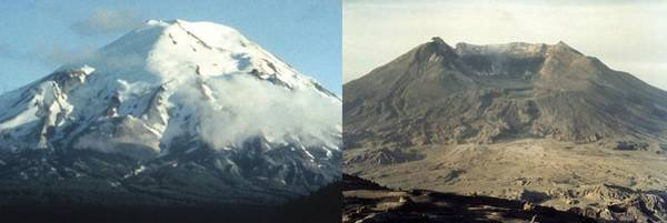 Wall Art - Photograph - Before And After The Eruption Of Mount by Everett