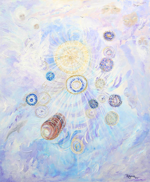 Angelic Beings Painting - Beings Of Light by Judy M Watts-Rohanna
