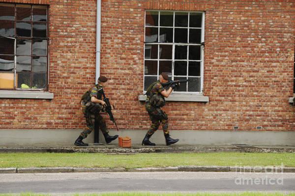 Fnc Photograph - Belgian Soldiers On Patrol by Luc De Jaeger