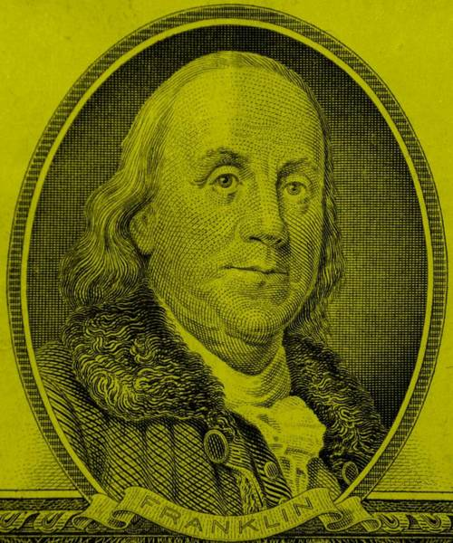 Photograph - Ben Franklin In Yellow by Rob Hans