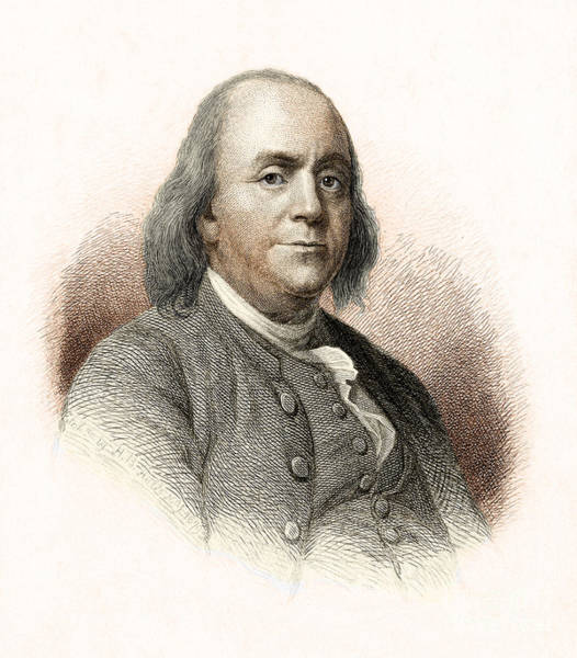 Photograph - Benjamin Franklin by Nypl