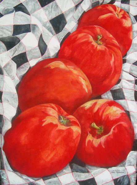 Painting - Big Reds by Paula Robertson