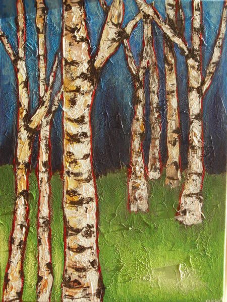 Wall Art - Painting - Birches by Jana Caissie