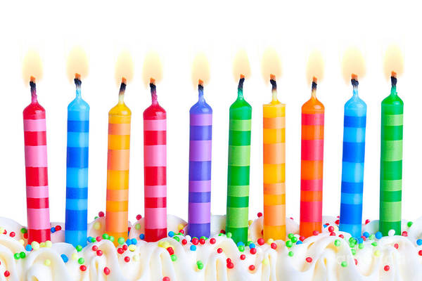 Wall Art - Photograph - Birthday Candles by Ruth Black