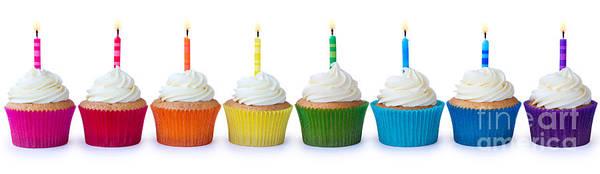 Fairy Cake Wall Art - Photograph - Birthday Cupcakes by Ruth Black