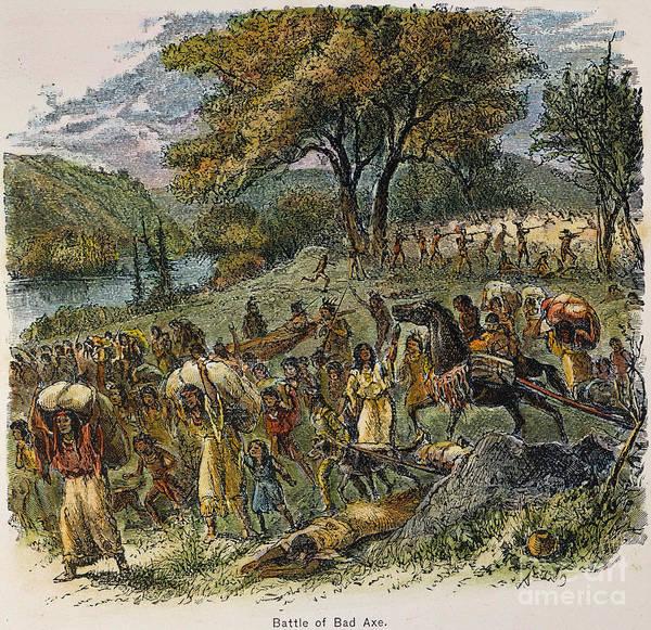 Militiaman Photograph - Black Hawk War, 1832 by Granger