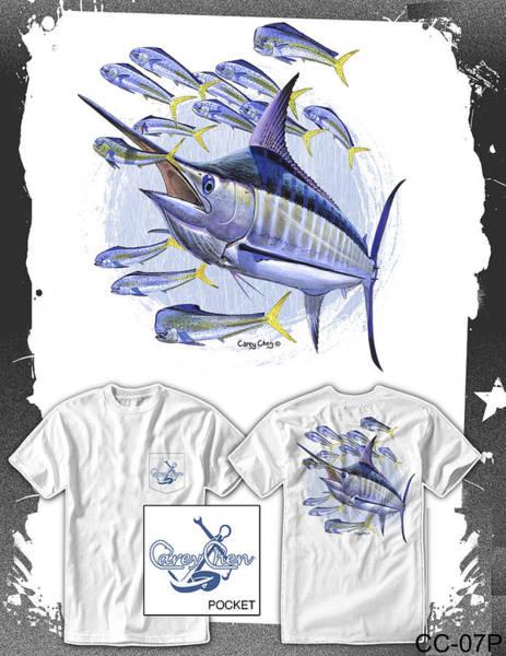 Chen Digital Art - Blue Marlin by Carey Chen