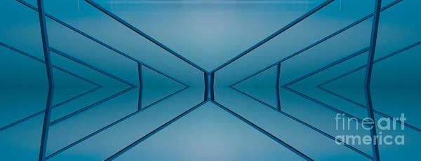 Chicago River Digital Art - Blue Reflection by Odon Czintos