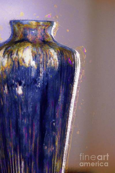 Photograph - Blue Vase by Donna Bentley