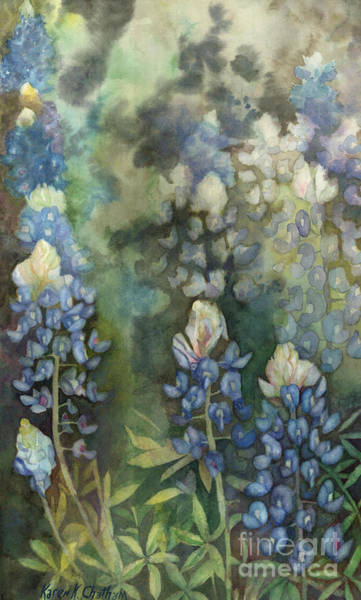 Wall Art - Painting - Bluebonnet Blessing by Karen Kennedy Chatham