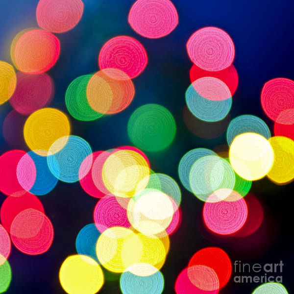 Photograph - Blurred Christmas Lights by Elena Elisseeva
