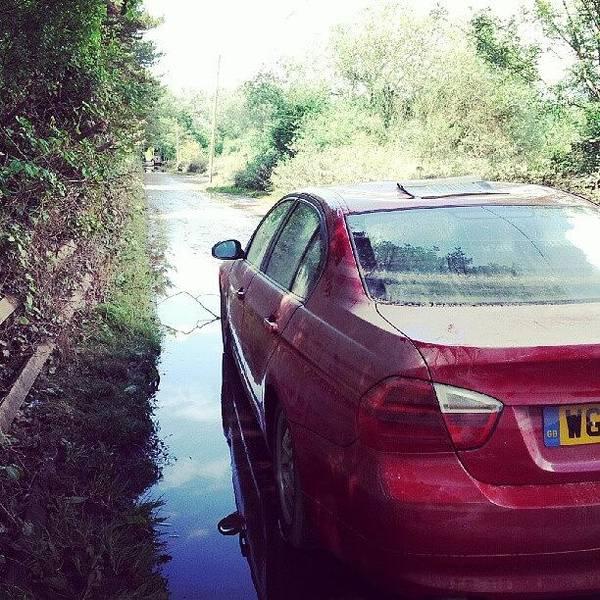 Bmw Photograph - #bmw #flood #devon #water #river #otter by Dave Harris