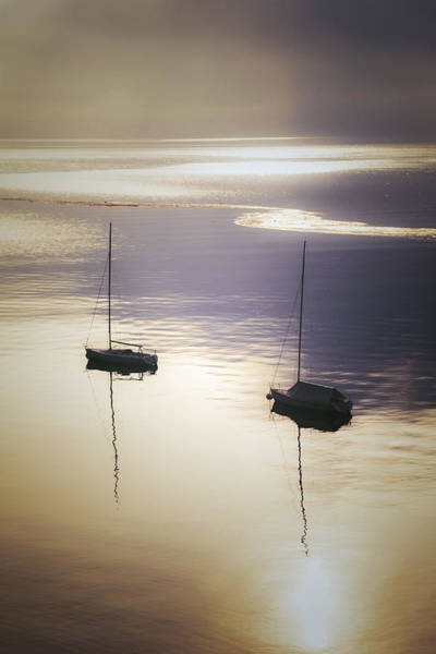 Lake Maggiore Photograph - Boats In Mist by Joana Kruse