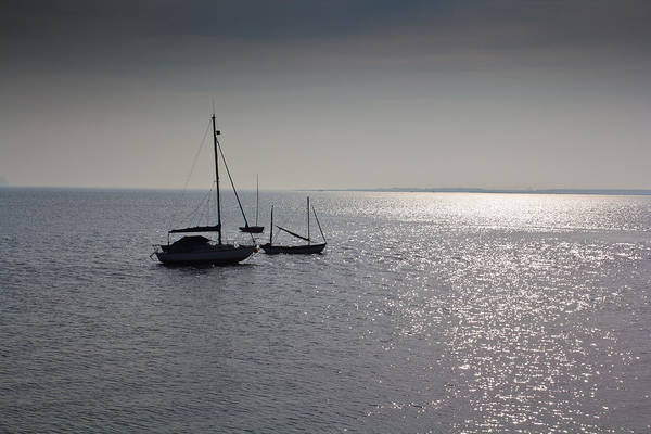 Leigh On Sea Photograph - Boats Moored Off Of Leigh Essex by David Pyatt