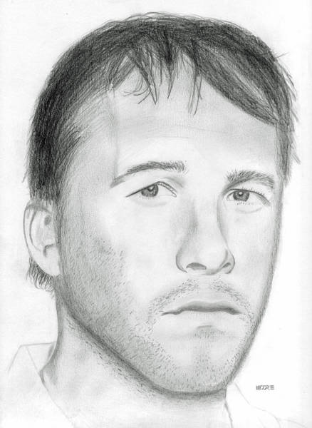 Drawing - Bode Miller by Pat Moore