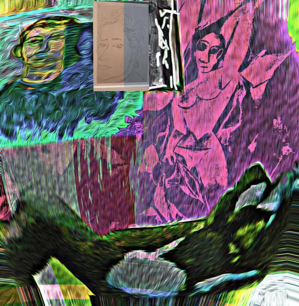 Wall Art - Mixed Media - Bohemian Club by Noredin Morgan
