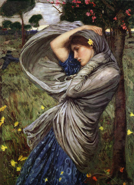 Boreas Art Print by  John William Waterhouse