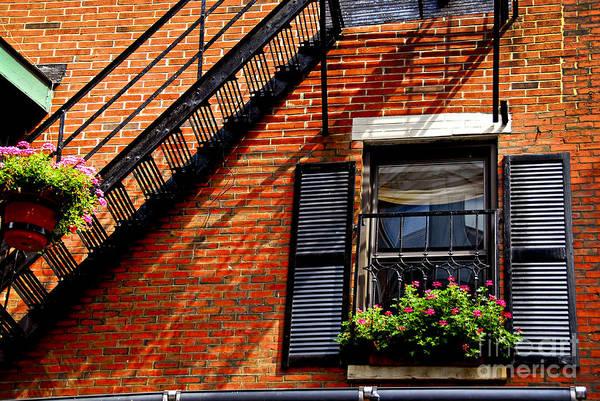 Boston North End Wall Art - Photograph - Boston House Fragment by Elena Elisseeva