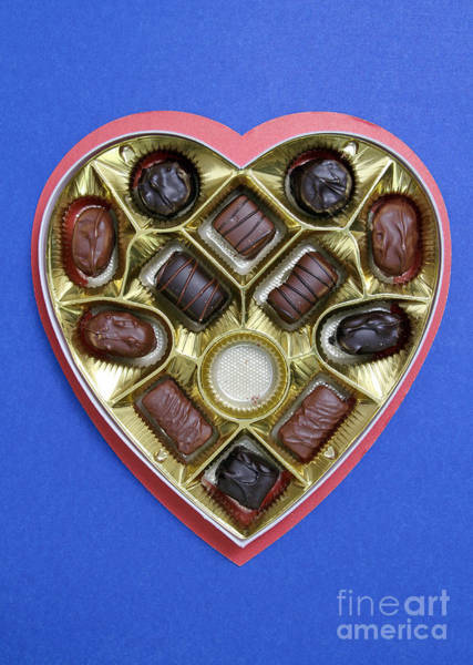 Photograph - Box Of Chocolates, One Missing by Photo Researchers