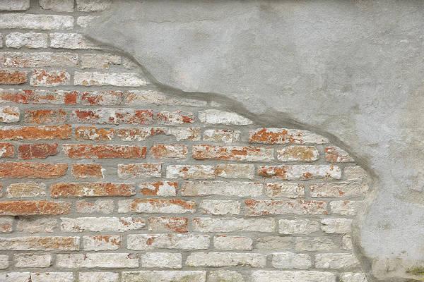 Plaster Photograph - Brick Wall, Venice, Veneto, Italy by Raimund Linke
