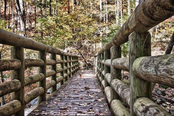 Photograph - Bridge Near Cascade Falls by James Woody