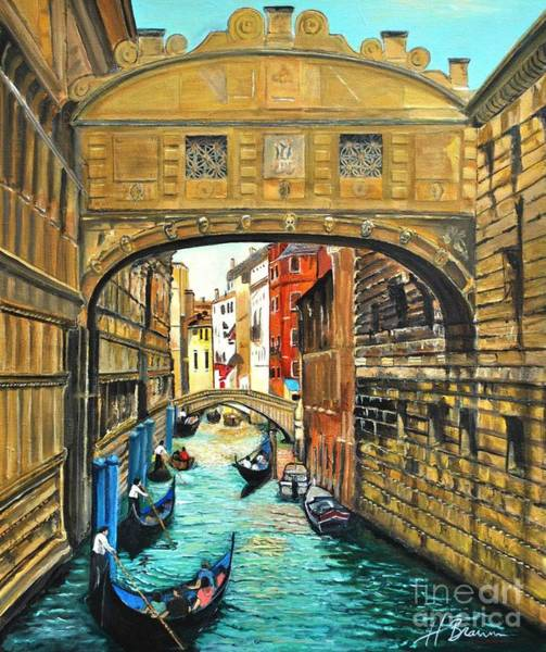 Holly Brannan Wall Art - Painting - Bridge Of Sighs by Holly Bartlett Brannan