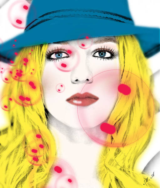 Dive Digital Art - Britney Spears by Mark Ashkenazi