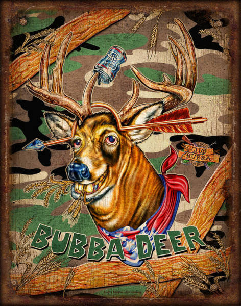 Hunt Wall Art - Painting - Bubba Deer by JQ Licensing