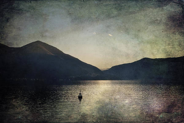 Lake Maggiore Photograph - Buoy In The Sunset by Joana Kruse