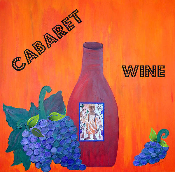 Art Print featuring the painting Cabaret Wine by Cynthia Amaral