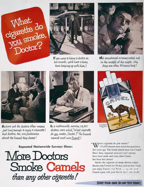 Wall Art - Photograph - Camel Cigarette Ad, 1946 by Granger