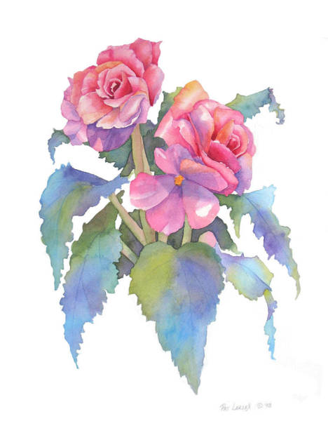 Wall Art - Painting - Carmel Begonias by Pat Yager