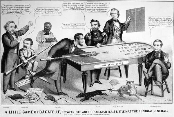 Brinton Photograph - Cartoon: Election Of 1864 by Granger