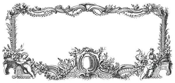 1755 Photograph - Cartouche, 1755 by Granger