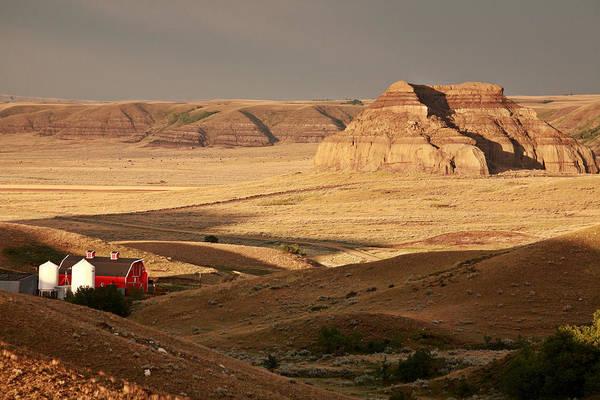 Prairie View Digital Art - Castle Butte In Big Muddy Valley Of Saskatchewan by Mark Duffy