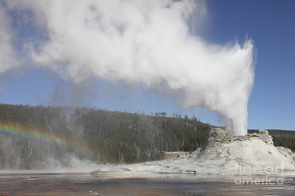 Yellowstone Caldera Photograph - Castle Geyser Eruption, Upper Geyser by Richard Roscoe