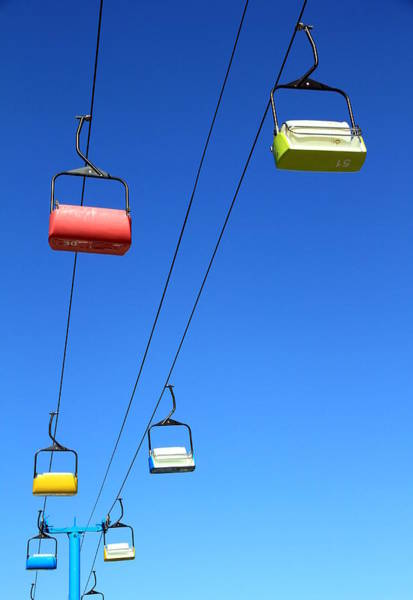 Ropeway Photograph - Chairlift Cars by Valentino Visentini