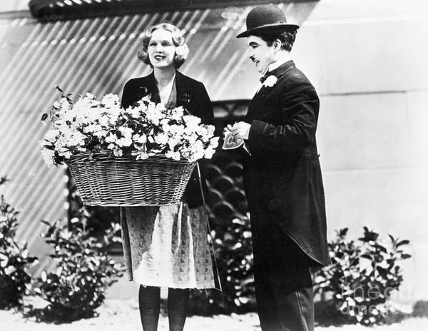 Basket Stars Photograph - Charlie Chaplin: City Lights by Granger