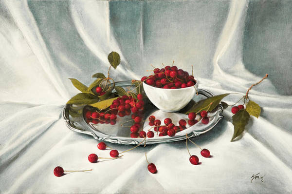 Painting - Cherries by Brandon Kralik
