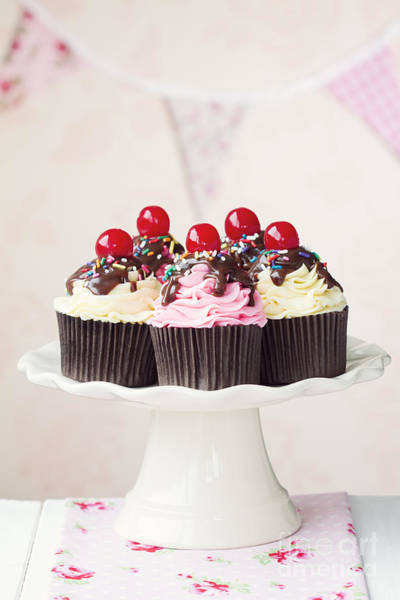 Wall Art - Photograph - Cherry Cupcakes by Ruth Black
