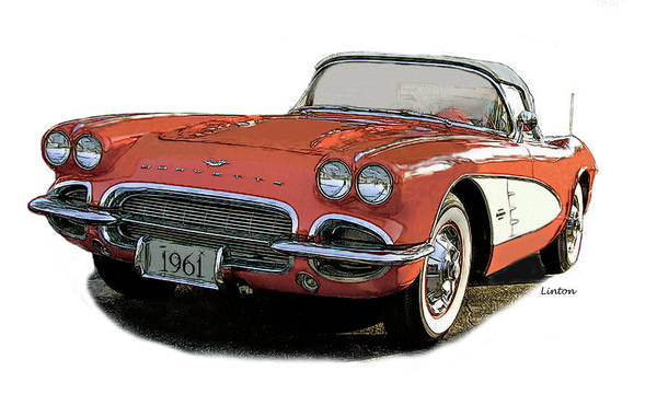 Photograph - Chevy Corvette by Larry Linton