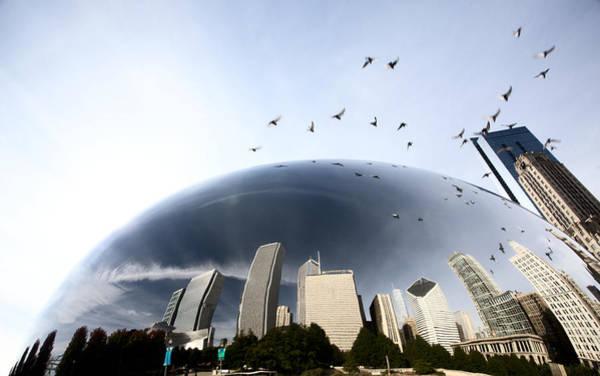Chicago Cityscape The Bean Art Print