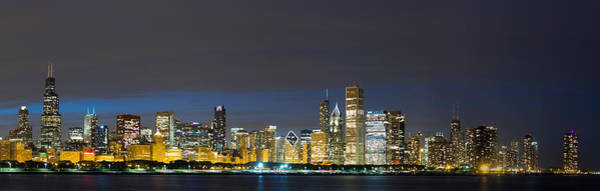 Chicago Skyline Art Photograph - Chicago Skyline At Night by Twenty Two North Photography